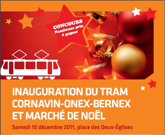 Inauguration du tram et Marché de Noël